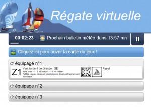 Régate virtuelle